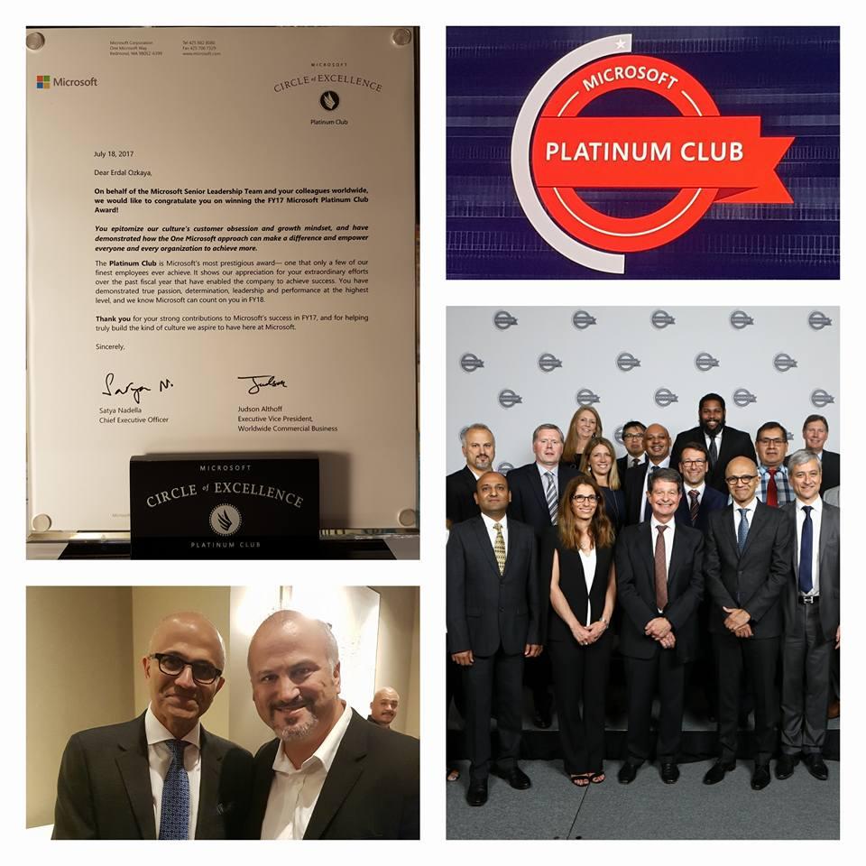 Microsoft Platinum Circle of Excellence Platinum Club MS Leadership Erdal