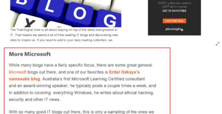 Pluralsight Favorite 17 Blogs Erdal