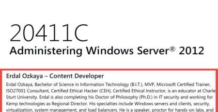 Administering Windows Server 2012 Erdal Ozkaya