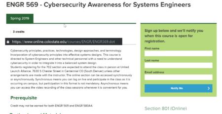 Colorado State University Cybersecurity Erdal