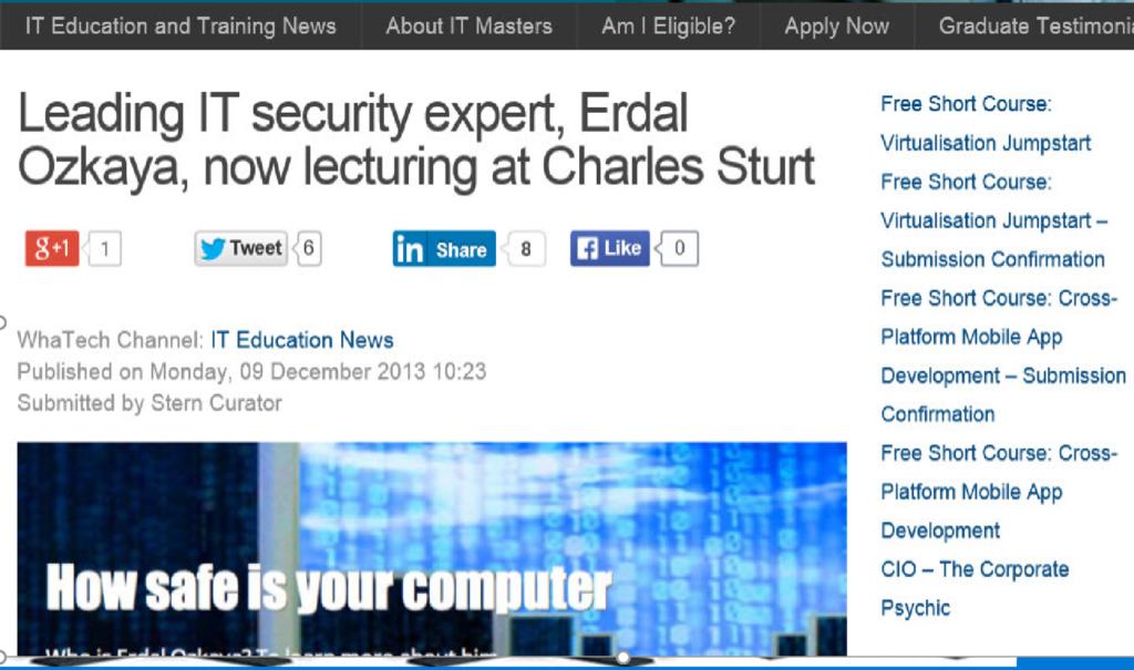 Leading IT security expert Erdal Ozkaya