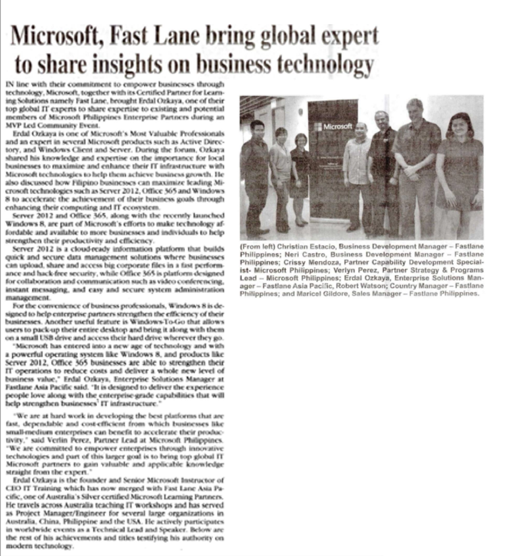 Microsoft brings Global Expert to Share Insights Erdal Ozkaya