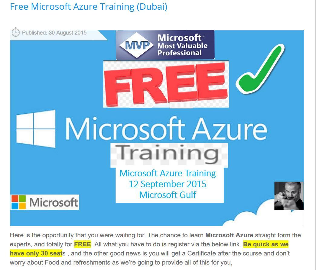 Free Azure Training