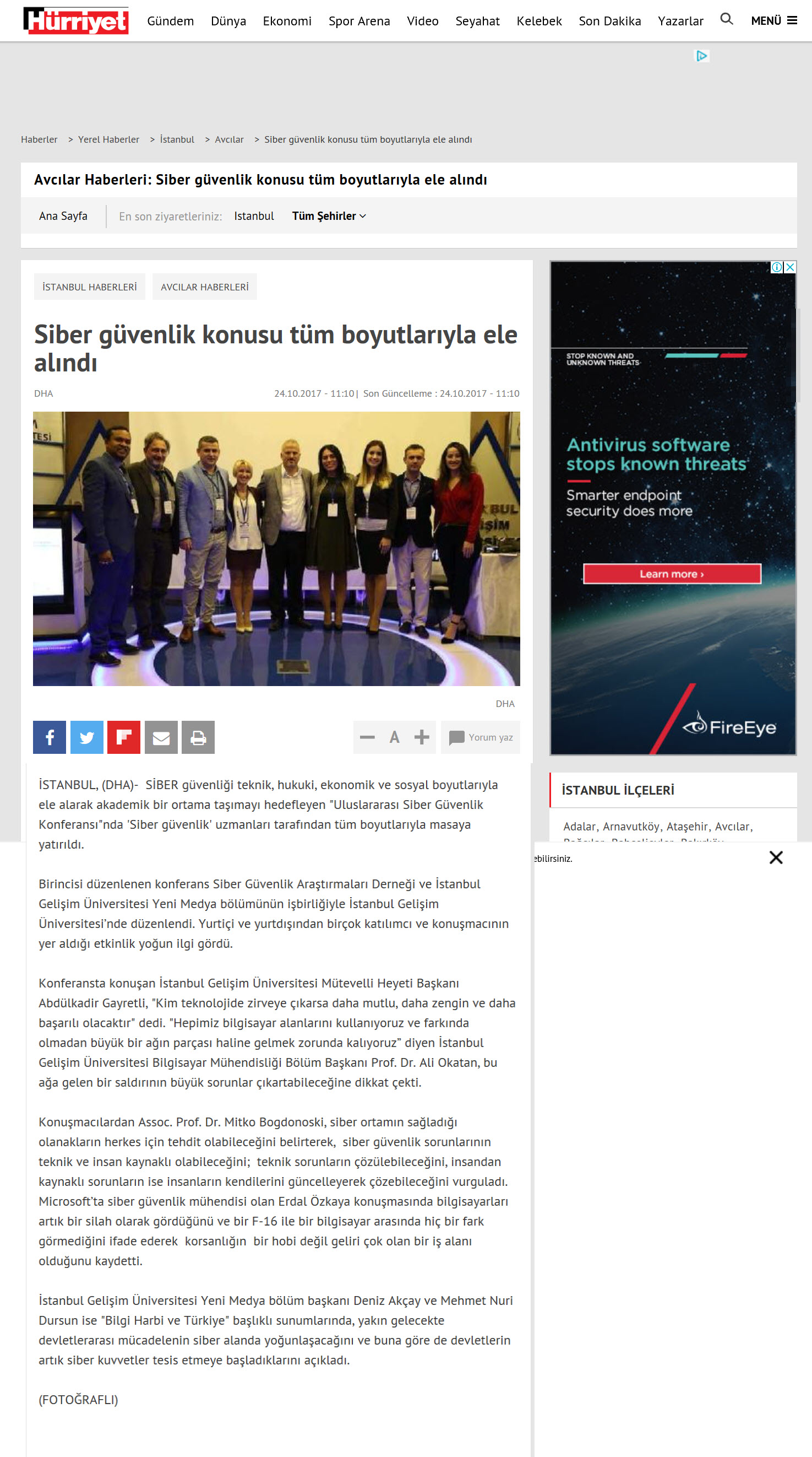 Experts covered Cybersecurity end to end Erdal