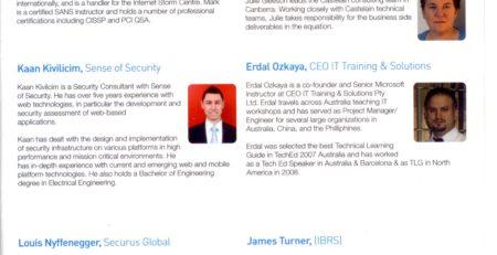Australian Information Security Association Erdal Ozkaya