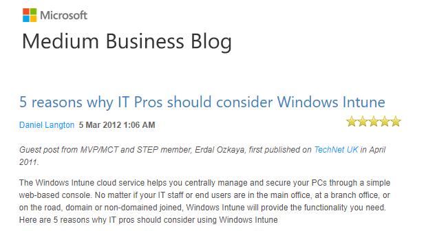 Microsoft Intune Erdal Ozkaya