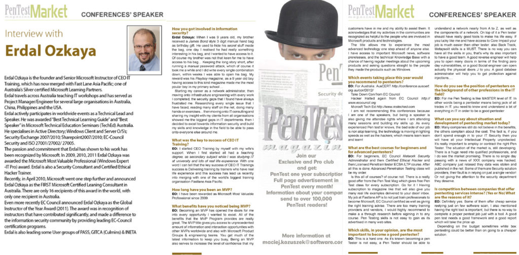 Pen Test Magazine Erdal