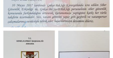 General Military Staff of Turkey award Erdal Ozkaya