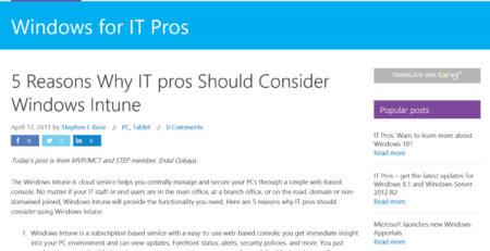 IT Pros should consider Windows Erdal