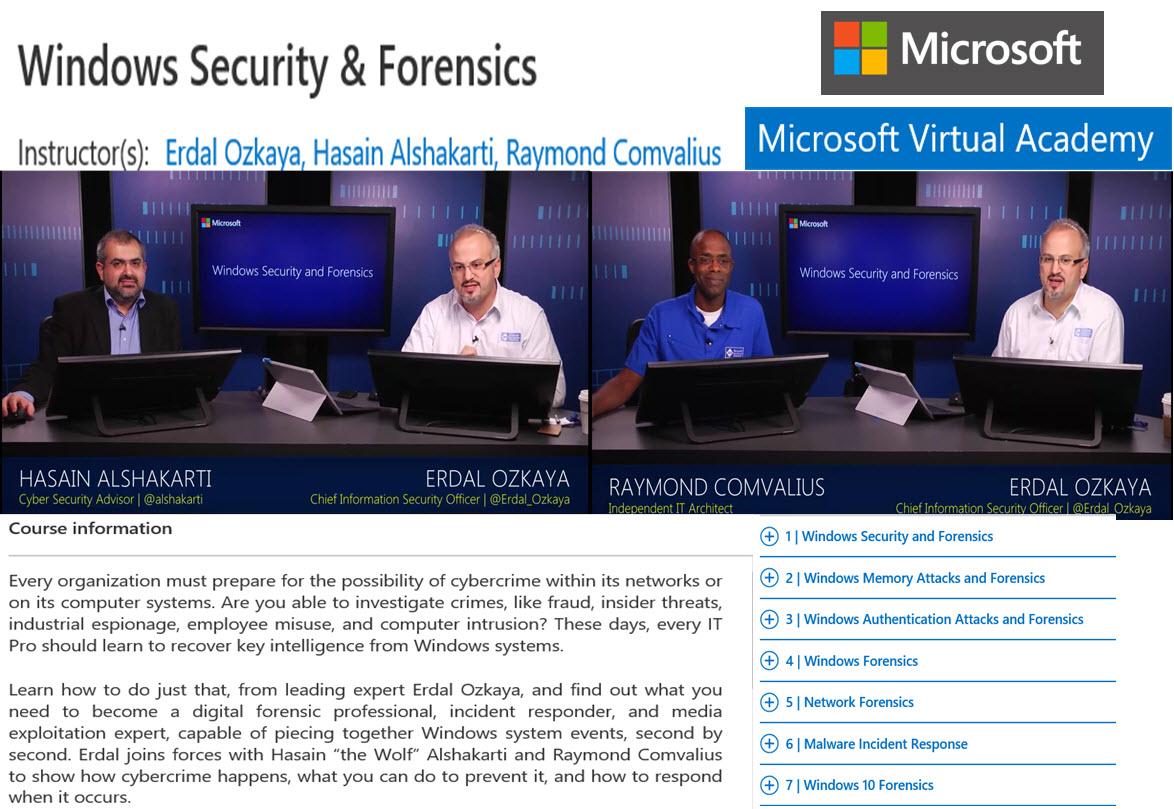 Windows Security Erdal Ozkaya