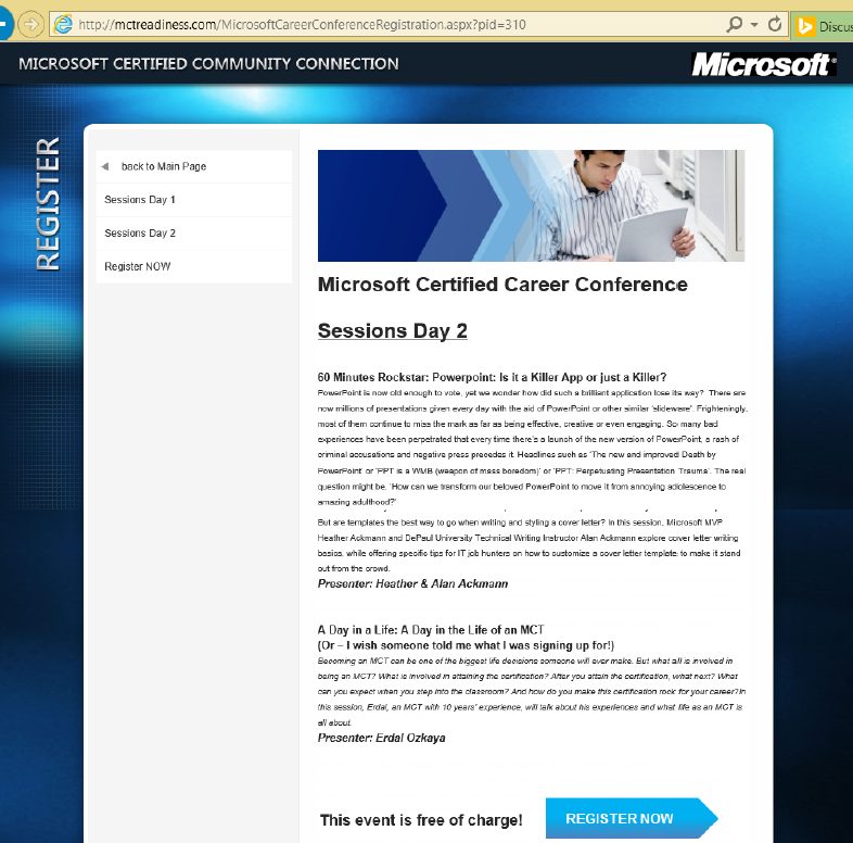 Microsoft Certified Career Conference Erdal