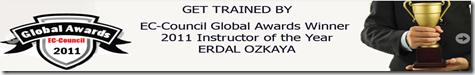 EC-Council Global Instructor of the Year Award Erdal Ozkaya