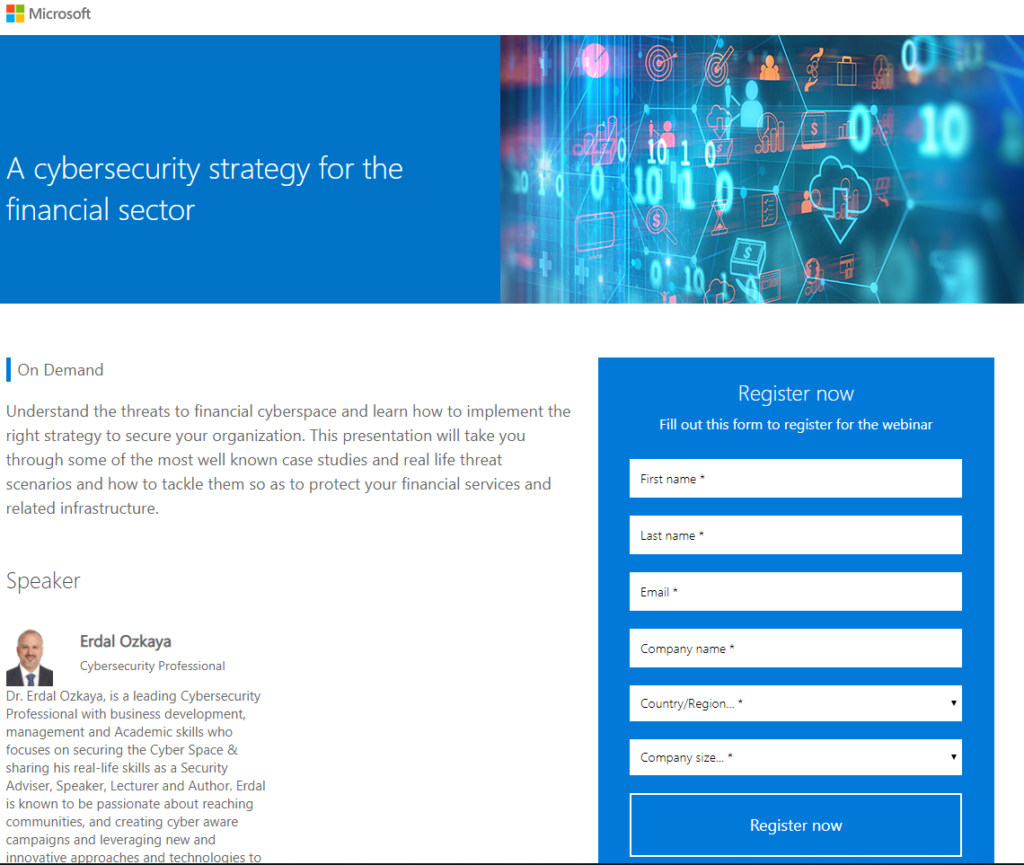 Cybersecurity Strategy for the Financial Sector Erdal Ozkaya