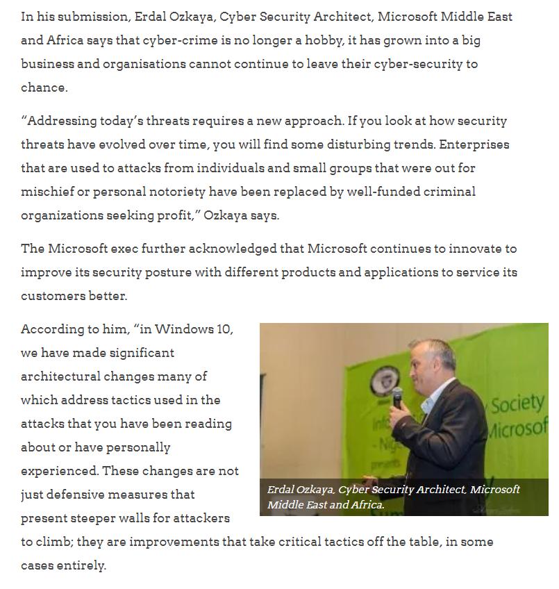 cybersecurity awareness Erdal Ozkaya