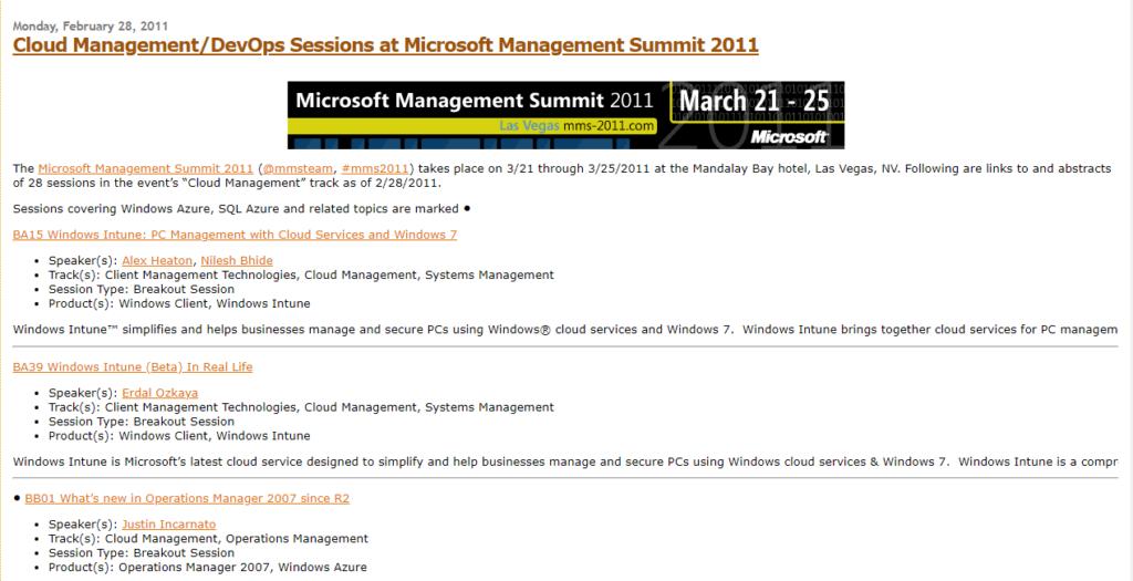 MMS Microsoft management Summit Erdal Ozkaya