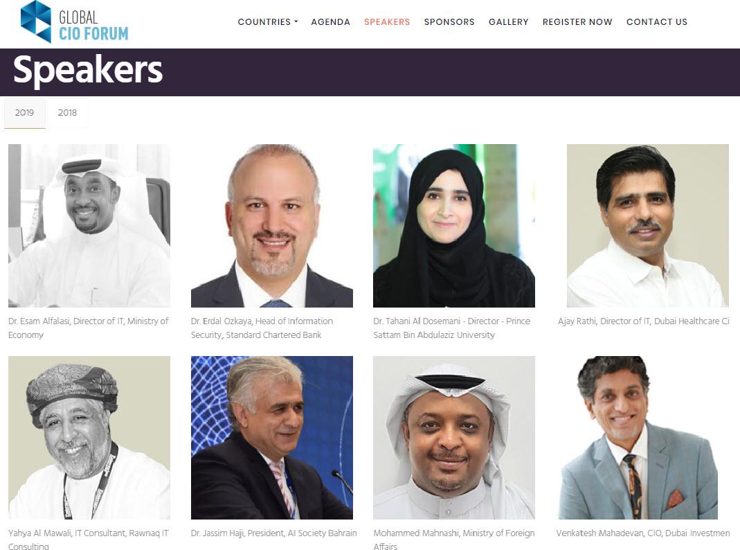 Global CIO Summit Keynote speaker Erdal