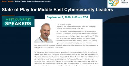 State-of-Play for Middle East Cybersecurity Leader : Dr Erdal Ozkaya