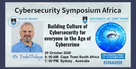 Cybersecurity Symposium UCT Keynote Speaker Dr Erdal Ozkaya