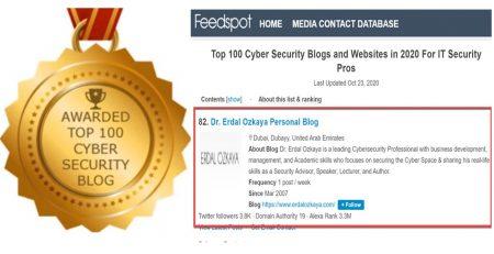 Top 100 Cybersecurity Blogs Erdal Ozkaya
