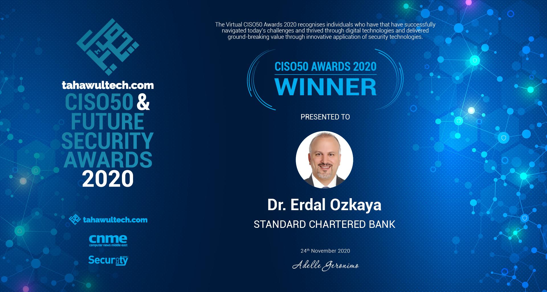 Top CISO Award Erdal Ozkaya