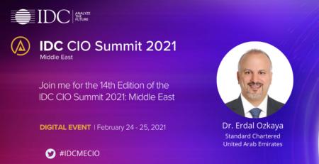 Speaking at IDC Summit Erdal