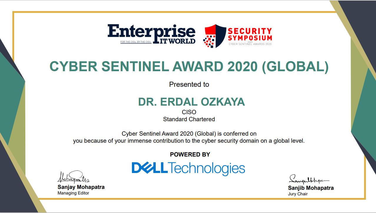 Cyber Sentinel Award 2020 Global