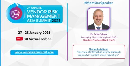Vendor Risk Management Asia Summit Dr Erdal Ozkaya