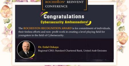 Cybersecurity Ambassadors Award Erdal Ozkaya