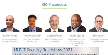 CIO Masterclass by Erdal Ozkaya via IDC