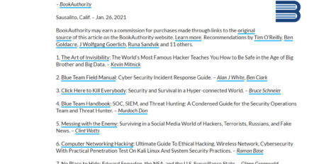 Best Cybersecurity Books Of All Time
