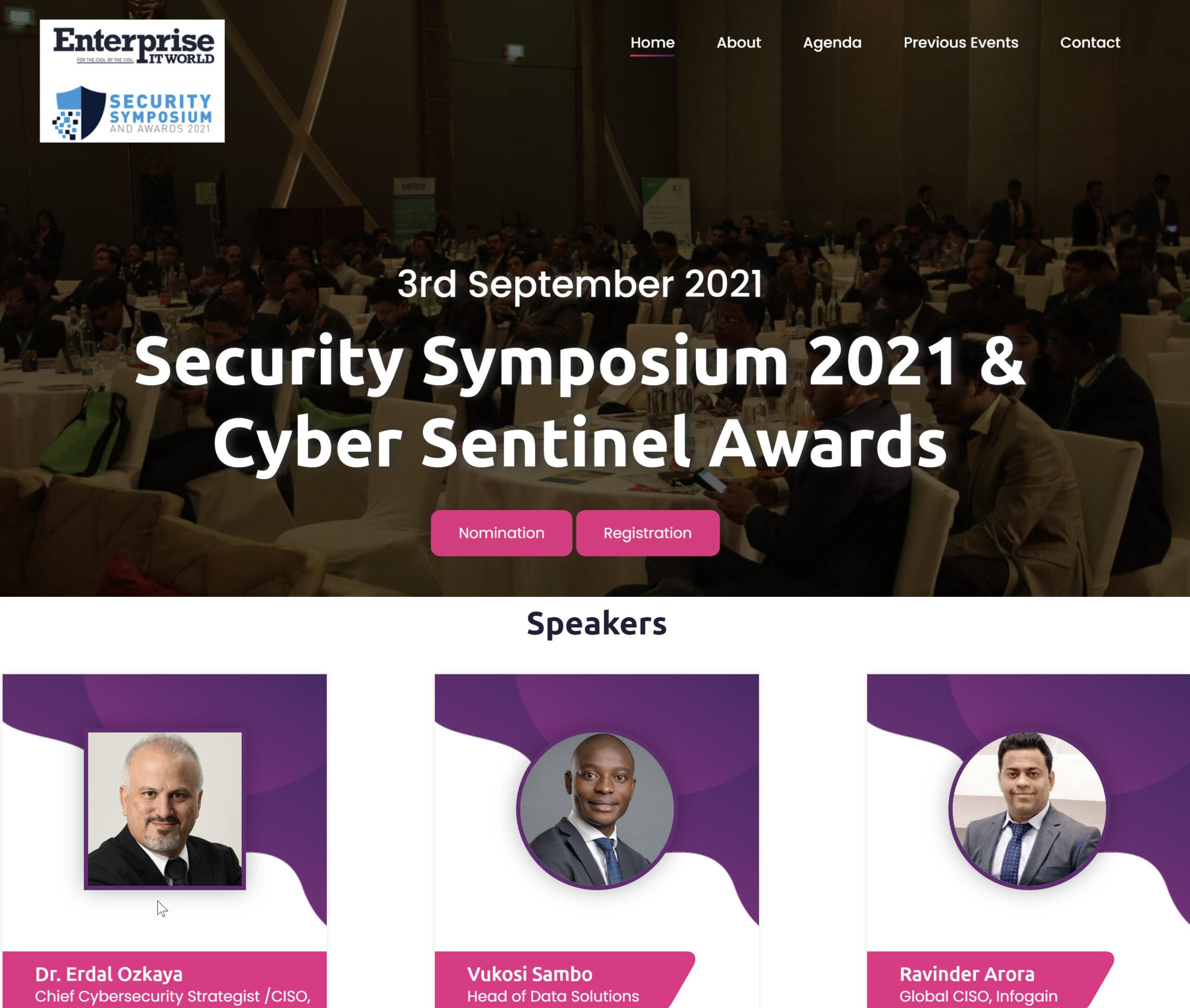 Enterprise IT World Security Symposium Erdal Ozkaya